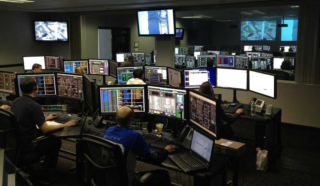 beeldscherm space center