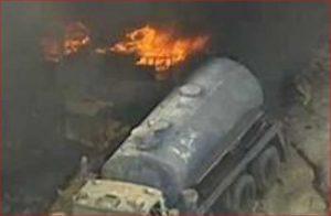 explosie vacuum tankwagen