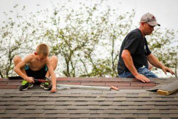 werken op het dak